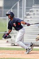 Minnesota Twins third baseman Niko Goodrum #17 during an Instructional League game against the Boston Red Sox at Red Sox Minor League Training Complex in Fort Myers, Florida;  October 3, 2011.  (Mike Janes/Four Seam Images)