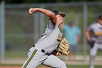 Dominic Teoli (27) during the WWBA World Championship at Lee County Player Development Complex on October 8, 2020 in Fort Myers, Florida.  Dominic Teoli, a resident of Montreal, Quebec, Canada who attends TNXL Academy.  (Mike Janes/Four Seam Images)