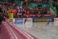 SPEEDSKATING: HAMAR: Vikingskipet, 29-02-2020, ISU World Speed Skating Championships, Allround, 5000m Men, Sven Kramer (NED), Sverre Lunde Pedersen (NOR), ©photo Martin de Jong