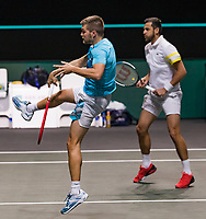 Rotterdam, The Netherlands, 6 march  2021, ABNAMRO World Tennis Tournament, Ahoy,  Semi final doubles: Nikola Mektic (CRO) / Mate Pavic (CRO).<br /> Photo: www.tennisimages.com/henkkoster