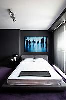 Contemporary bedroom in grey