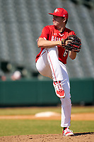 Pitcher Mitch Bratt (6) during the Baseball Factory All-Star Classic at Dr. Pepper Ballpark on October 4, 2020 in Frisco, Texas.  Pitcher Mitch Bratt (6), a resident of Newmarket, Ontario, Canada, attends Newmarket High School.  (Ken Murphy/Four Seam Images)