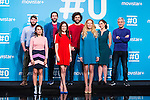(back line)  Alejandro Alcaraz, Raul Gomez, Maria Gomez Jon Sistiaga, (front line) Zahara, Raquel Sanchez Silva and Paula Vazquez on the first anniversary of broadcast of #0 television network of the Movistar + group in Madrid, Spain. January 30th 2017. (ALTERPHOTOS/Rodrigo Jimenez)