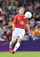 July 31, 2012..Japan's Karina Maruyama (13) in action during Football match between JPN and RSA at the Millennium Stadium on day four of 2012 Olympic Games in Cardiff, United Kingdom...