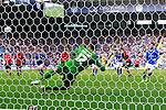 Leicester City v Barnsley<br /> 28.9.2013<br /> Sky Bet Championship<br /> Picture Shaun Flannery/Trevor Smith Photography<br /> Leicester's David Nugent scores from the penalty spot.