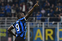 Romelu Lukaku of Internazionale of Internazionale celebrates after a goal <br /> Milano 26-10-2019 Stadio San Siro  <br /> Football Serie A 2019/2020 <br /> FC Internazionale - Parma  <br /> Photo Giuliano Marchisciano / Insidefoto