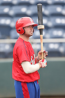 Doug Votolato (21) of the Spokane Indians before a game against the Everett AquaSox at Everett Memorial Stadium on July 25, 2015 in Everett, Washington. Spokane defeated Everett, 10-1. (Larry Goren/Four Seam Images)