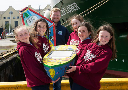 'Seoltóir Na Gaillimhe – the Galway Sailor' about to be Deployed from the RV Celtic Explorer