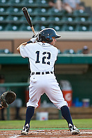 Alden Carrithers (12) of the Lakeland Flying Tigers during a game vs. the Charlotte Stone Crabs May 11 2010 at Joker Marchant Stadium in Lakeland, Florida. Charlotte won the game against Lakeland by the score of 3-0.  Photo By Scott Jontes/Four Seam Images