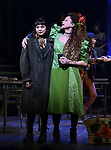 "Eva Noblezada and Amber Gray during the Broadway Press Performance Preview of ""Hadestown""  at the Walter Kerr Theatre on March 18, 2019 in New York City."
