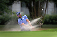 Daniel Pearce plays out of a bunker on the 8th. Day two of the Jennian Homes Charles Tour / Brian Green Property Group New Zealand Super 6s at Manawatu Golf Club in Palmerston North, New Zealand on Friday, 6 March 2020. Photo: Dave Lintott / lintottphoto.co.nz