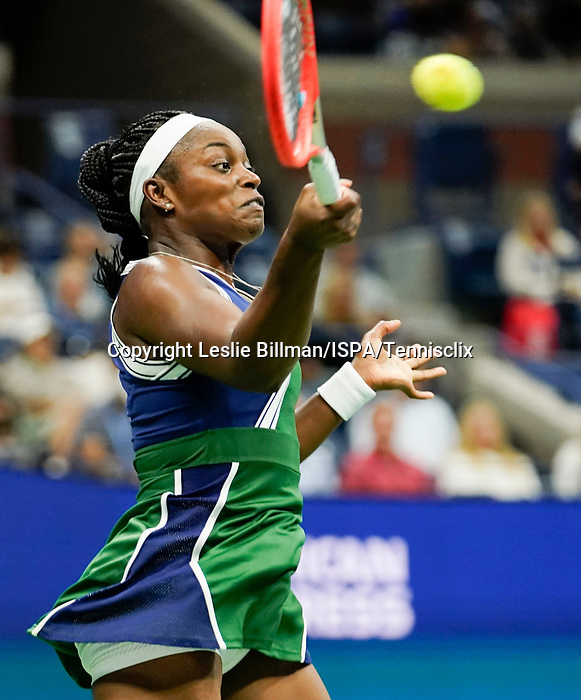 September  1, 2021:  Sloane Stephens (USA) defeated CoCo Gauff (USA) 6-4, 6-2, at the US Open being played at Billy Jean King Ntional Tennis Center in Flushing, Queens, New York / USA  ©Leslie Billman/Tennisclix/CSM