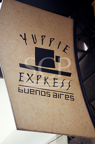 Buenos Aires, Argentina. 'Yuppie Express' restaurant.