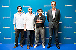 "Alberto Sanchez Cabezudo, Jorge Sanchez Cabezudo and Eduard Fernandez during the presentation of the spanish new series for Movistar+ ""La Zona"" in Madrid. July 19. Spain 2016. (ALTERPHOTOS/Borja B.Hojas)"
