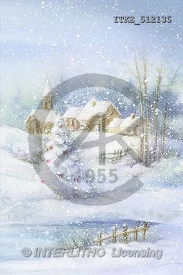 Isabella, CHRISTMAS LANDSCAPE, paintings(ITKE512135,#XL#) Landschaften, Weihnachten, paisajes, Navidad, illustrations, pinturas