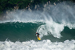 Mexican surfer Coco Nogales rides a wave at Puerto Escondido's Zicatela Beach in Mexico. Photo by Victor Fraile / Power Sport Images