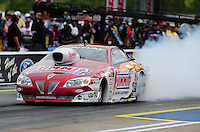 Jun. 17, 2011; Bristol, TN, USA: NHRA pro stock driver Greg Anderson during qualifying for the Thunder Valley Nationals at Bristol Dragway. Mandatory Credit: Mark J. Rebilas-