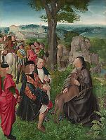 Full title: Saint Giles and the Hind<br /> Artist: Master of Saint Giles<br /> Date made: about 1500<br /> Source: http://www.nationalgalleryimages.co.uk/<br /> Contact: picture.library@nationalgallery.co.uk<br /> <br /> Copyright © The National Gallery, London