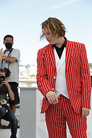 """CANNES, FRANCE - JULY 17: Caleb Landry Jones at the """"Nitram"""" photocall during the 74th annual Cannes Film Festival on July 17, 2021 in Cannes, France.<br /> CAP/GOL<br /> ©GOL/Capital Pictures"""