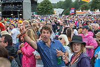 Festival go-ers during Rewind South, The 80s Festival, at Temple Island Meadows, Henley-on-Thames, England on 20 August 2016. Photo by David Horn.