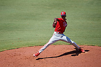 Philadelphia Phillies pitcher Manuel Silva (87) delivers a pitch during a Florida Instructional League game against the Toronto Blue Jays on September 24, 2018 at Spectrum Field in Clearwater, Florida.  (Mike Janes/Four Seam Images)