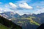 Austria, Vorarlberg, near Fontanella: view at Great Walser Valley | Oesterreich, Vorarlberg, bei Fontanella: Blick ins Grosse Walsertal