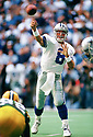Dallas Cowboys Troy Aikman (8) during a game from his 1996 season with the Dallas Cowboys, Troy Aikman played for 12 years, with all with the Cowboys, was a 6-time Pro Bowler and was inducted to the Pro Football Hall of Fame in 2006.(SPORTPICS)