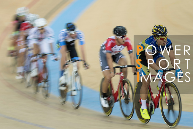 Ko Siu Wai of the IND competes in the Men Elite - Omnium II Tempo Race 10km category during the Hong Kong Track Cycling National Championships 2017 at the Hong Kong Velodrome on 18 March 2017 in Hong Kong, China. Photo by Chris Wong / Power Sport Images