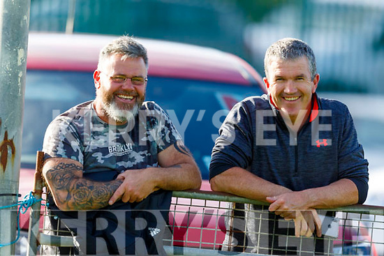 Sean Cunningham and Liam McCarthy taking in the action from the Crotta O'Neills v Abbeydorney game in the 1st round of the North Kerry Hurling Championship.