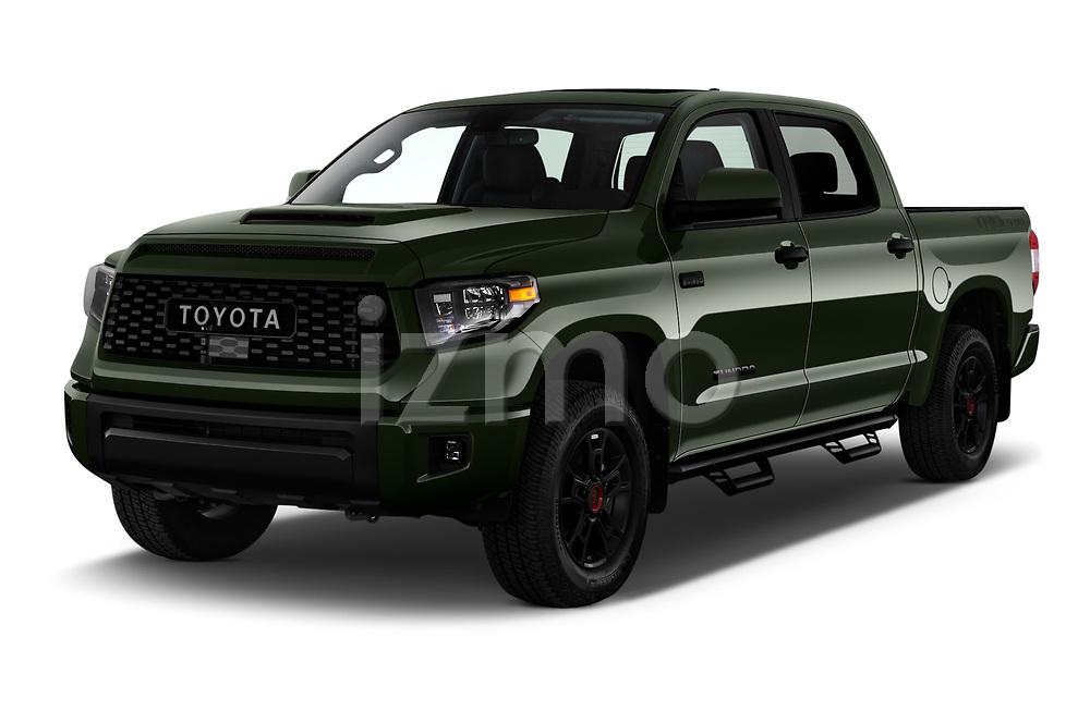 2020 Toyota Tundra TRD-Pro 4 Door Pick-up Angular Front automotive stock photos of front three quarter view