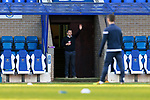 St Johnstone v Motherwell…21.11.20   McDiarmid Park      SPFL<br />Callum Davidson waves to Motherwell assistant Keith Lasley before kick off<br />Picture by Graeme Hart.<br />Copyright Perthshire Picture Agency<br />Tel: 01738 623350  Mobile: 07990 594431