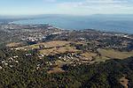 UCSC campus and Santa Cruz, Monterey Bay, California