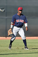 Cleveland Indians outfielder Jose Medina (23) during an Instructional League game against the Seattle Mariners on October 1, 2014 at Goodyear Training Complex in Goodyear, Arizona.  (Mike Janes/Four Seam Images)