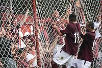 ATENÇÃO EDITOR: FOTO EMBARGADA PARA VEÍCULOS INTERNACIONAIS SÃO PAULO,SP,06 FEVEREIRO 2013 - CAMPEONATO PAULISTA A2 - JUVENTUS x RIO BRANCO - Tuta jogador do Juventus comemora gol durante partida Juventus x Rio Branco válido pela 05º rodada do Campeonato Paulista A2 no Estádio Rodolfo Crespi ( Rua Javari ) na tarde desta quarta feira (06). FOTO ALE VIANNA - BRAZIL PHOTO PRESS.