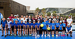 Steffi Graf of Germany, the global ambassador of Zhuhai WTA Elite Trophy 2017, poses for photo with children and guests during the tennis clinic at plaza of Zhuhai International Convention and Exhibition Centre on November 04, 2017 in Zhuhai, China. Photo by Yu Chun Christopher Wong / Power Sport Images