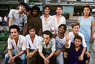 In Ho Chi Minh City, Saigon, February 1988. A group of teenagers all obviously Amerasian were hanging around Place of the l'Opera, and they were very anxious to comunicate with the American Veterans.