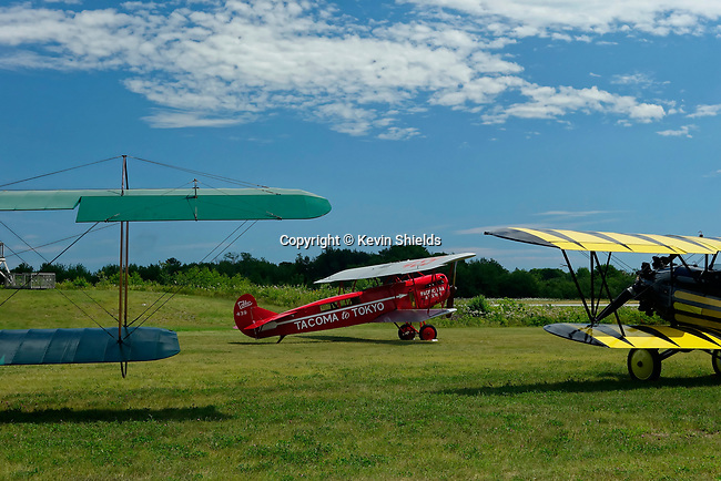 Biplanes at the Owls Head Transportation Museum, Maine