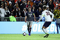 CARY, NC - DECEMBER 15: Dylan Nealis #12 of Georgetown University brings the ball up the field during a game between Georgetown and Virginia at Sahlen's Stadium at WakeMed Soccer Park on December 15, 2019 in Cary, North Carolina.