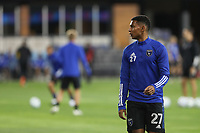 SAN JOSE, CA - OCTOBER 28: Marcos Lopez #27 of the San Jose Earthquakes before a game between Real Salt Lake and San Jose Earthquakes at Earthquakes Stadium on October 28, 2020 in San Jose, California.