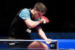 Dimitrij Ovtcharov (GER) vs Tang Peng (HKG) in action at their Men Singles Round of 16 match during the Seamaster Qatar 2016 ITTF World Tour Grand Finals at the Ali Bin Hamad Al Attiya Arena on 9 December 2016, in Doha, Qatar. Photo by Victor Fraile / Power Sport Images