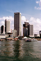 Singapore: Harbor skyline. Photo '83.