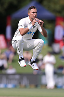 Trent Boult of New Zealand warms up during day one of the second International Test Cricket match between the New Zealand Black Caps and Pakistan at Hagley Oval in Christchurch, New Zealand on Sunday, 3 January 2021. Photo: Martin Hunter / lintottphoto.co.nz