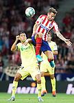 Atletico de Madrid's Saul Niguez (r) and Getafe CF's Faycal Fajr during La Liga match. August 18,2019. (ALTERPHOTOS/Acero)