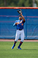 New York Mets outfielder Guillermo Granadillo (90) during a Minor League Extended Spring Training game against the Miami Marlins on April 12, 2019 at First Data Field Complex in St. Lucie, Florida.  (Mike Janes/Four Seam Images)