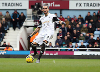 Pictured: Chico Flores of Swansea. 01 February 2014<br /> Re: Barclay's Premier League, West Ham United v Swansea City FC at Boleyn Ground, London.