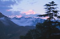 Landscape of the Dhauladhar mountain range.