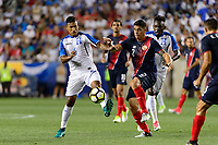 Harrison, NJ - Friday July 07, 2017: Bryan Acosta, Johnny Acosta during a 2017 CONCACAF Gold Cup Group A match between the men's national teams of Honduras (HON) vs Costa Rica (CRC) at Red Bull Arena.