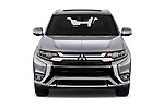 Car photography straight front view of a 2020 Mitsubishi Outlander-PHEV Instyle 5 Door SUV Front View