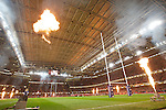 The heat is turned up inside the Millennium Stadium before kick..Invesco Perpetual Series 09..Wales v New Zealand..Millennium Stadium..07.11.09.©Steve Pope.Sportingwales.The Manor .Coldra Woods.Newport.South Wales.NP18 1HQ.07798 830089.01633 410450.steve@sportingwales.com.www.fotowales.com.www.sportingwales.com.©Steve Pope.Sportingwales.The Manor .Coldra Woods.Newport.South Wales.NP18 1HQ.07798 830089.01633 410450.steve@sportingwales.com.www.fotowales.com.www.sportingwales.com
