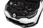 Car Stock 2017 Renault Capture Initiale-Paris 5 Door SUV Engine  high angle detail view